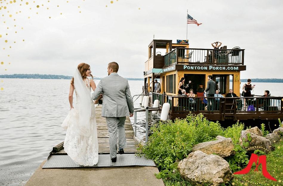 Pontoon Porch Wedding